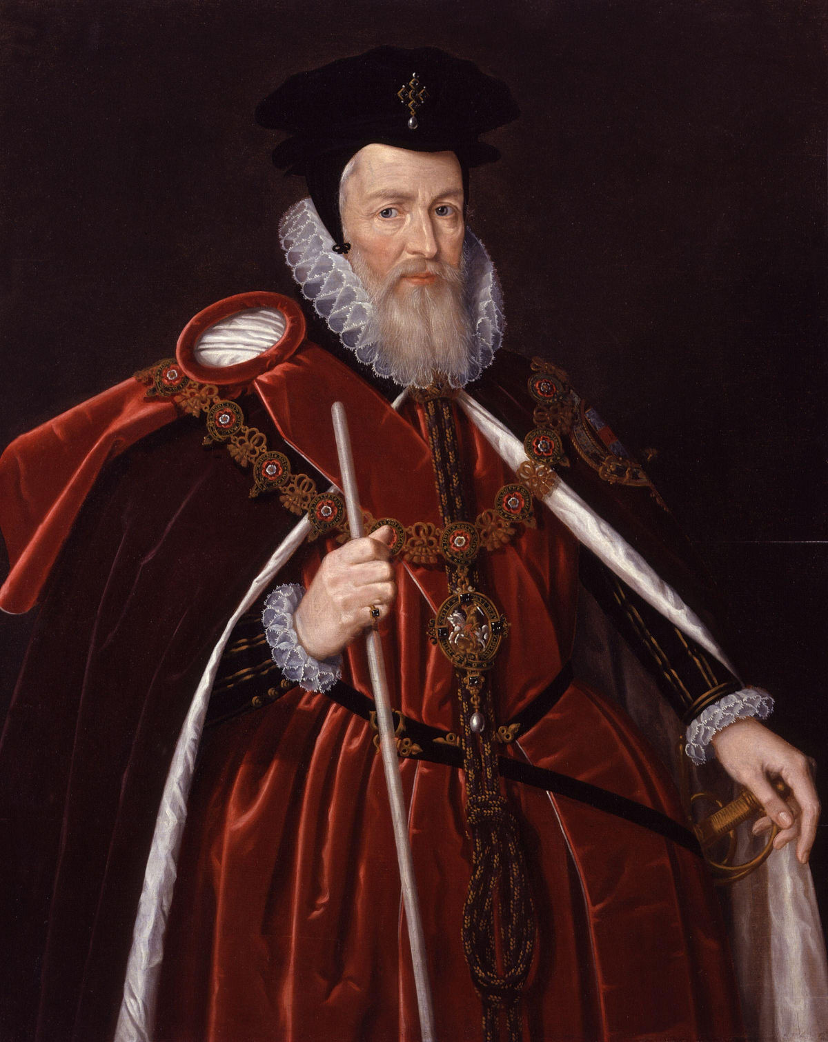 A painting of William Cecil 1st Baron Burghley